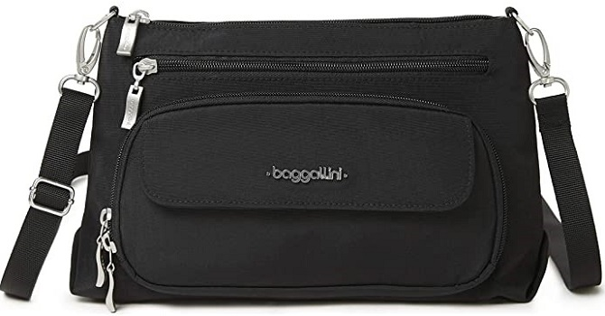 Baggallini RFID Everyday Crossbody Purses with Built in Wallet